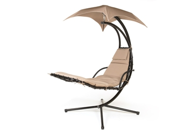 Floating Swing Chaise Lounge Chair By Trademark Innovations (Tan)