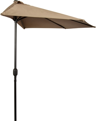 Awesome 9u0027 Patio Half Umbrella By Trademark Innovations (Tan)
