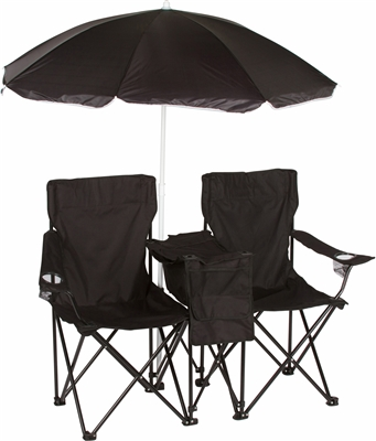 Double Folding Camp And Beach Chair With Removable