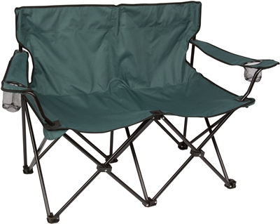 Loveseat Style Double Camp Chair with Steel Frame by