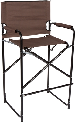 Lightweight Durable Aluminum Folding Tall Directoru0027s Chair By Trademark  Innovations