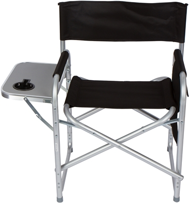 Folding Director S Chair With Aluminum Side Table Storage